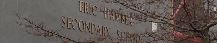 Eric Hamber sign